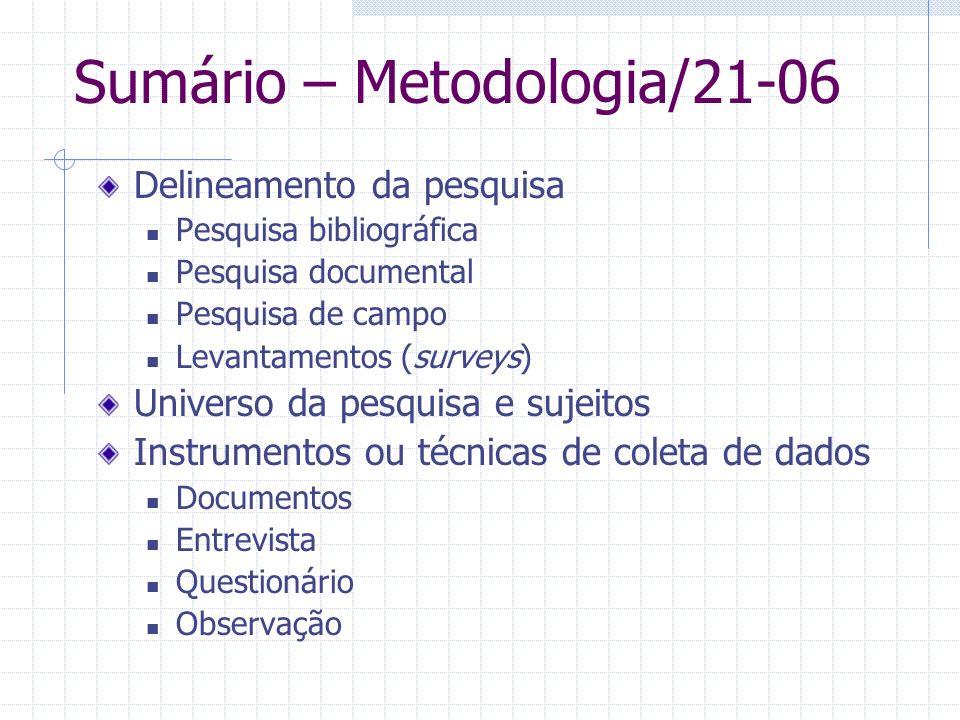 Sumário – Metodologia/21-06