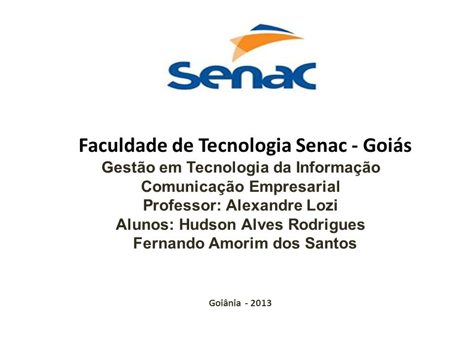 Faculdade de Tecnologia Senac - Goiás