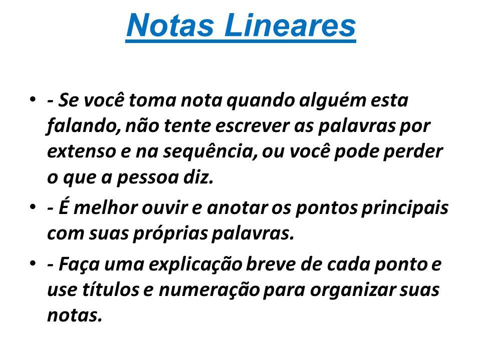 Notas Lineares