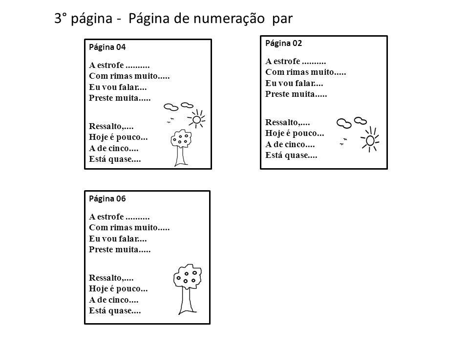 3° página - Página de numeração par