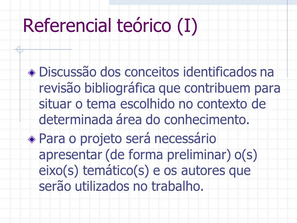 Referencial teórico (I)