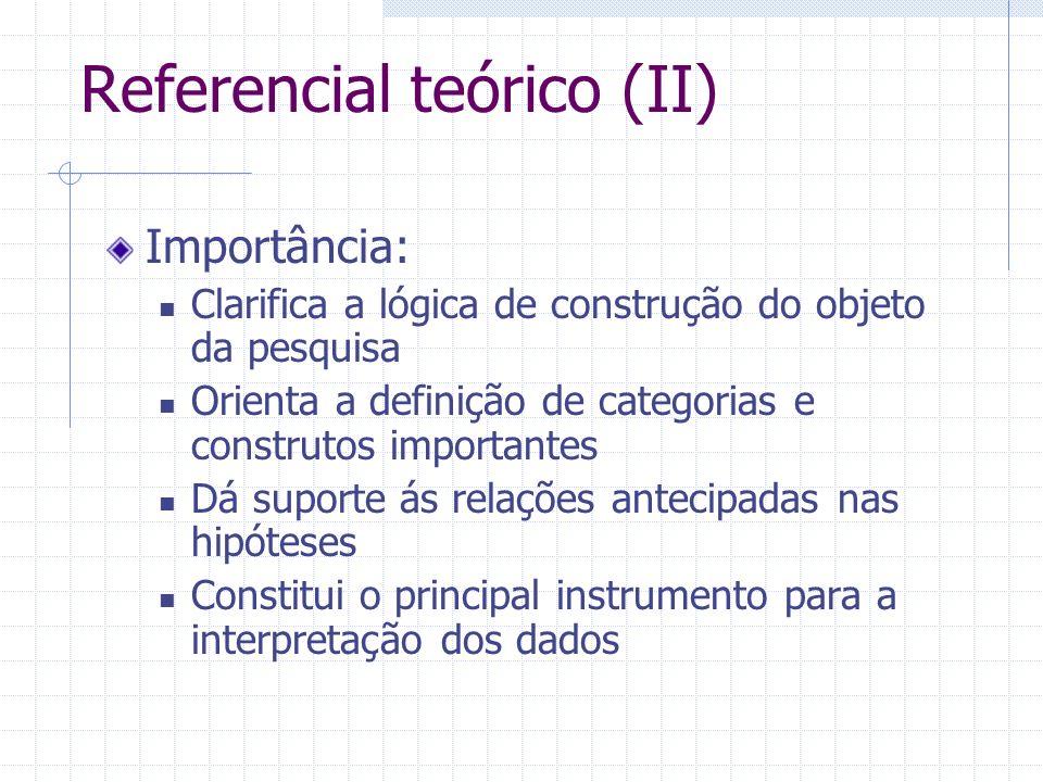 Referencial teórico (II)