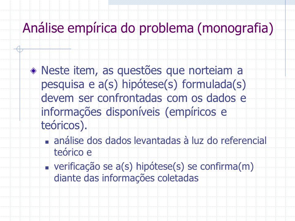 Análise empírica do problema (monografia)