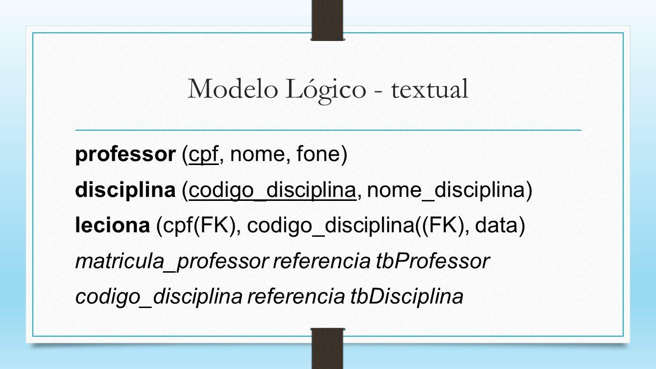 Modelo Lógico - textual