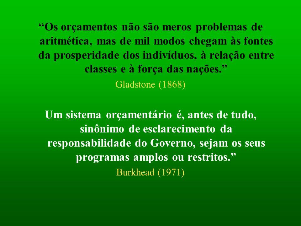 Os orçamentos não são meros problemas de aritmética, mas de mil modos chegam às fontes da prosperidade dos indivíduos, à relação entre classes e à força das nações.