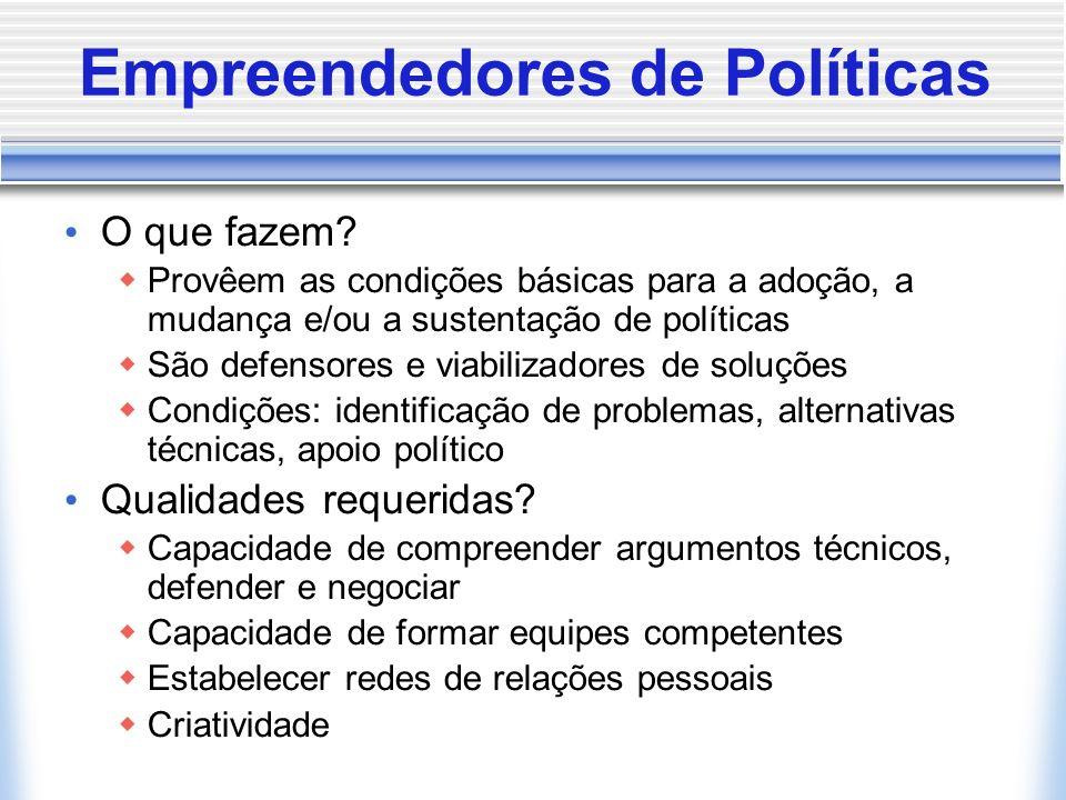 Empreendedores de Políticas