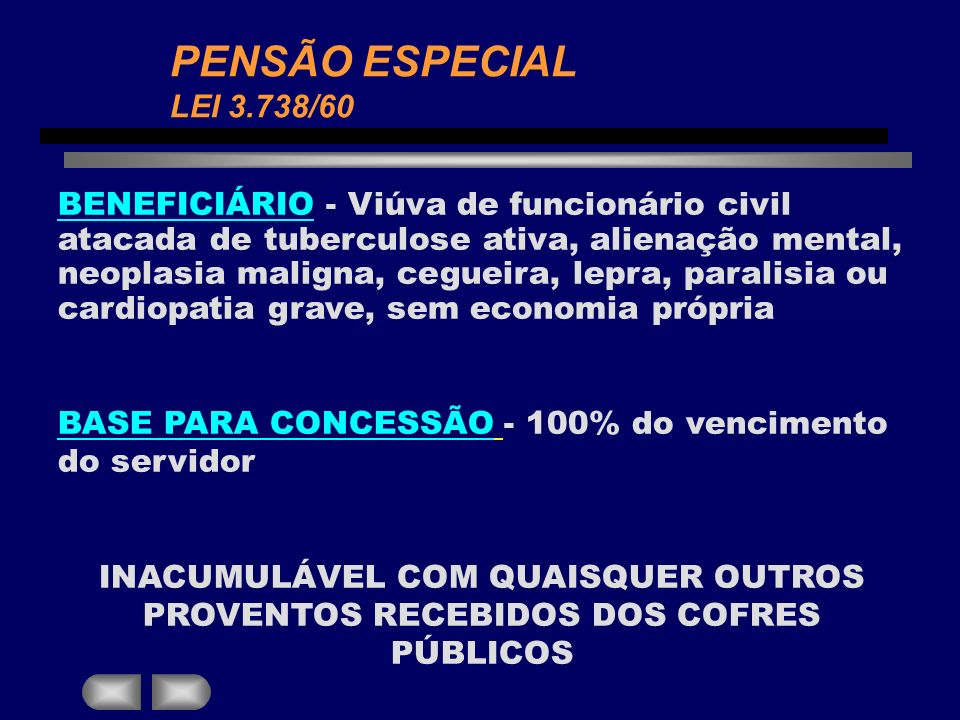 PENSÃO ESPECIAL LEI 3.738/60