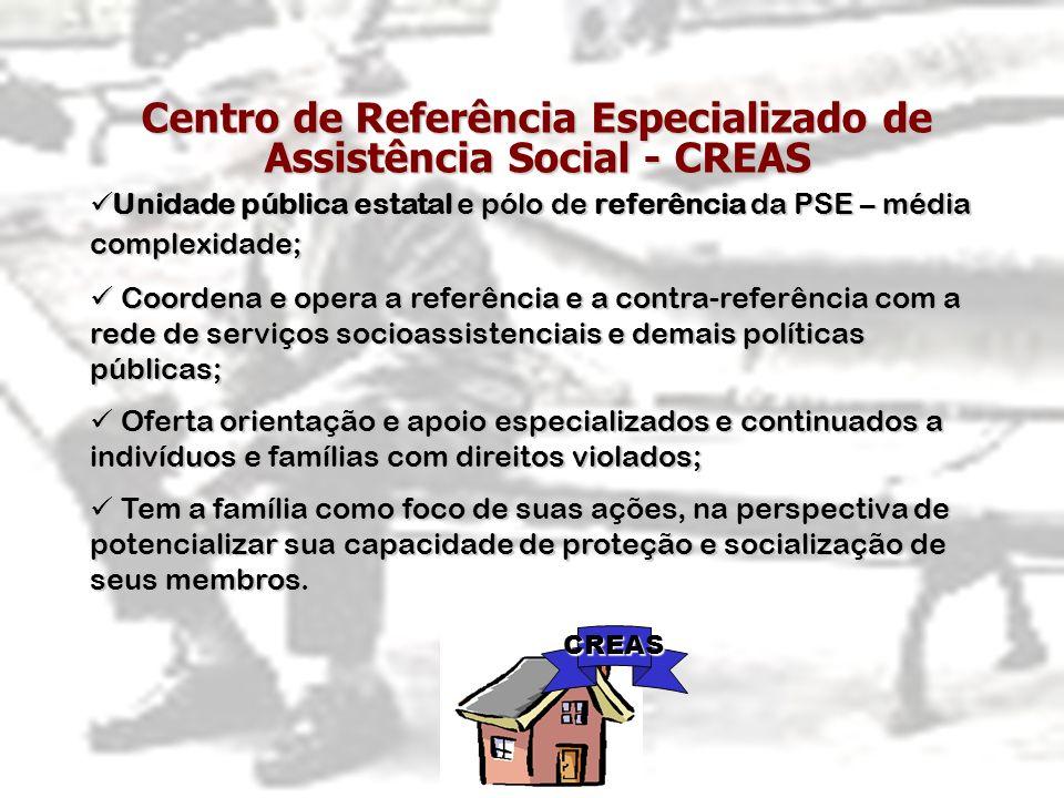 Centro de Referência Especializado de Assistência Social - CREAS