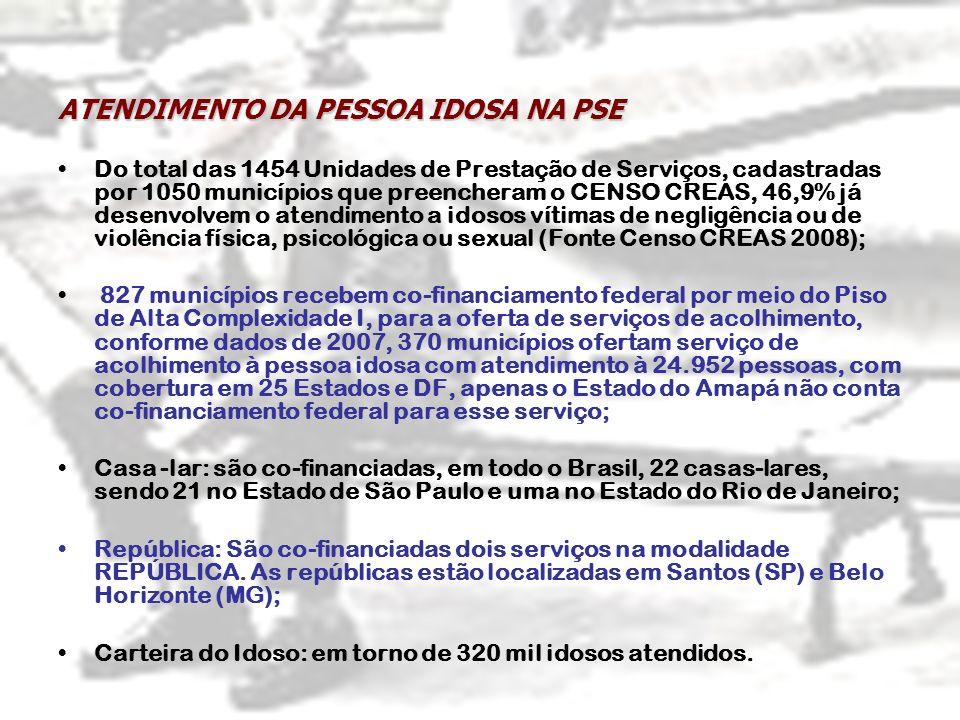 ATENDIMENTO DA PESSOA IDOSA NA PSE