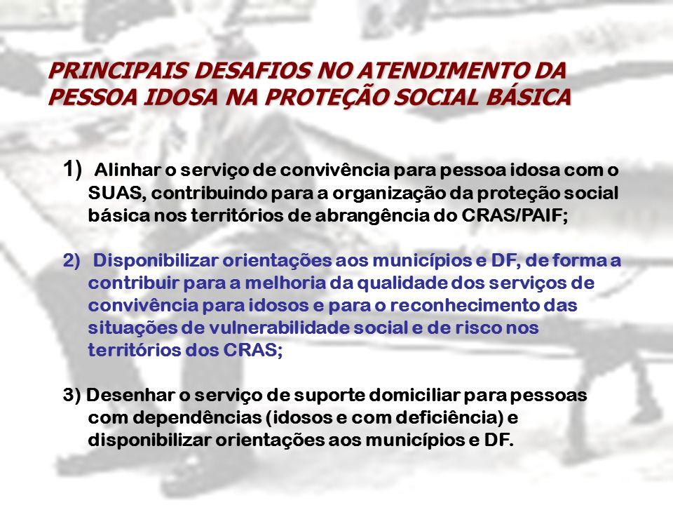 PRINCIPAIS DESAFIOS NO ATENDIMENTO DA PESSOA IDOSA NA PROTEÇÃO SOCIAL BÁSICA