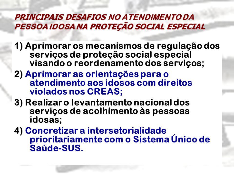 PRINCIPAIS DESAFIOS NO ATENDIMENTO DA PESSOA IDOSA NA PROTEÇÃO SOCIAL ESPECIAL