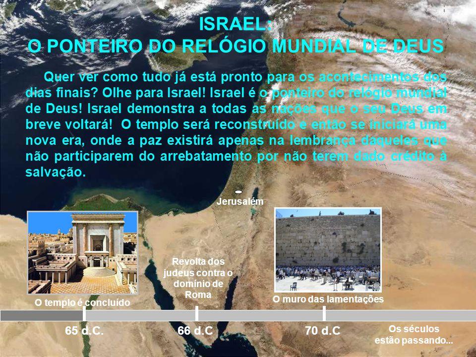 ISRAEL: O PONTEIRO DO RELÓGIO MUNDIAL DE DEUS