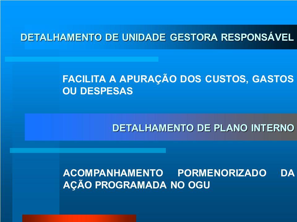 DETALHAMENTO DE UNIDADE GESTORA RESPONSÁVEL