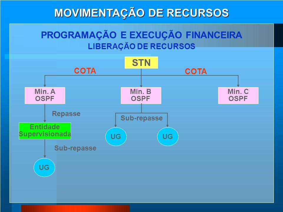 MOVIMENTAÇÃO DE RECURSOS PROGRAMAÇÃO E EXECUÇÃO FINANCEIRA
