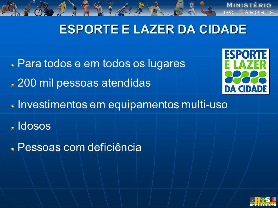 ESPORTE E LAZER DA CIDADE