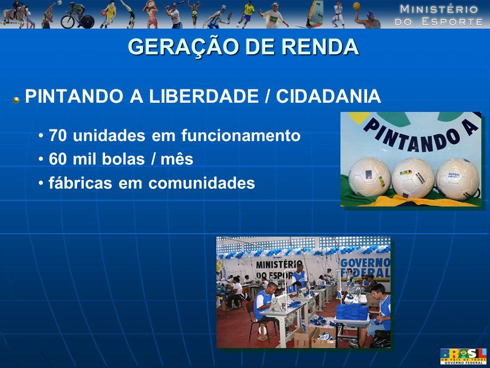 GERAÇÃO DE RENDA PINTANDO A LIBERDADE / CIDADANIA