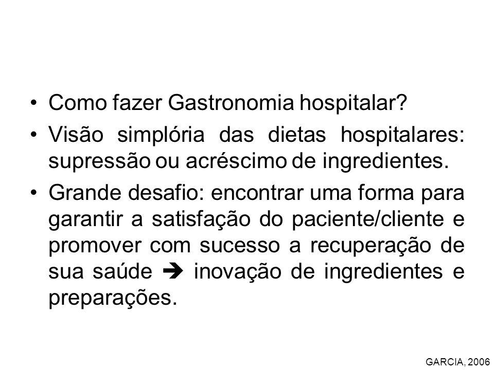 Como fazer Gastronomia hospitalar