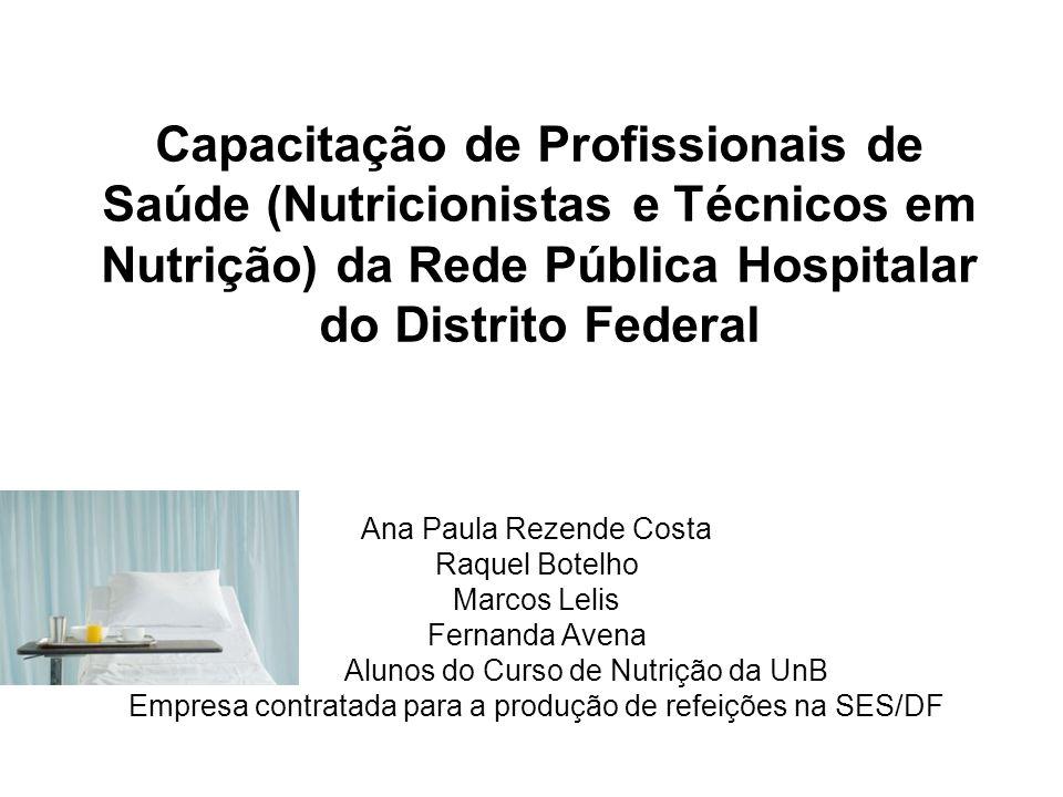 Capacitação de Profissionais de Saúde (Nutricionistas e Técnicos em Nutrição) da Rede Pública Hospitalar do Distrito Federal