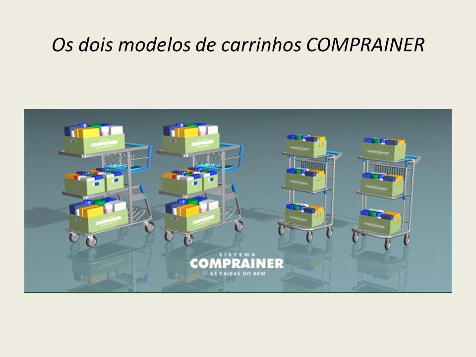 Os dois modelos de carrinhos COMPRAINER