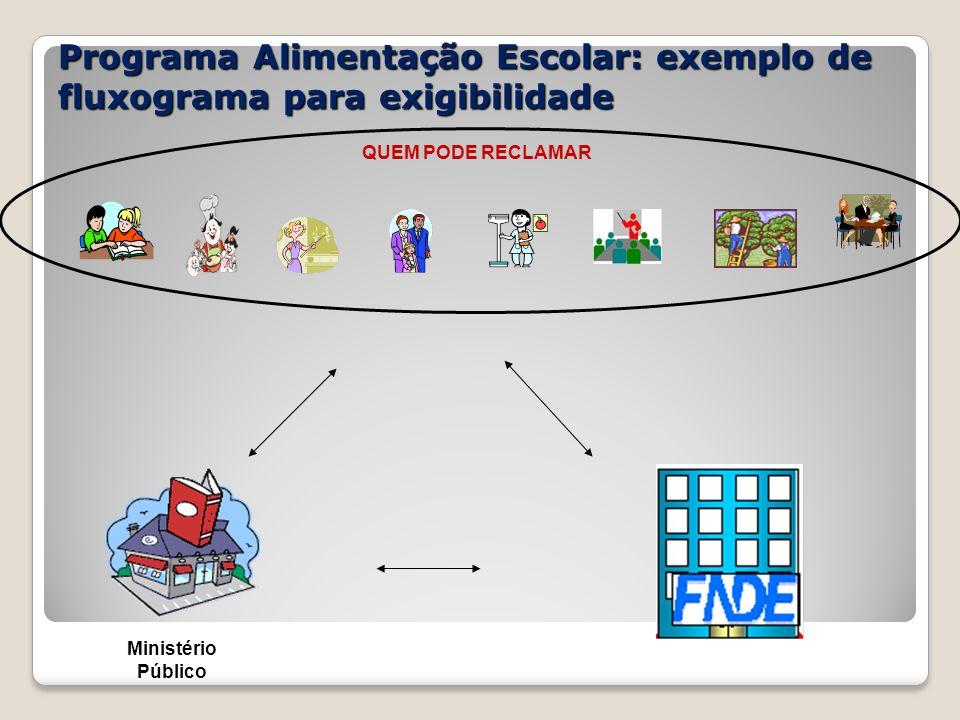 Programa Alimentação Escolar: exemplo de fluxograma para exigibilidade