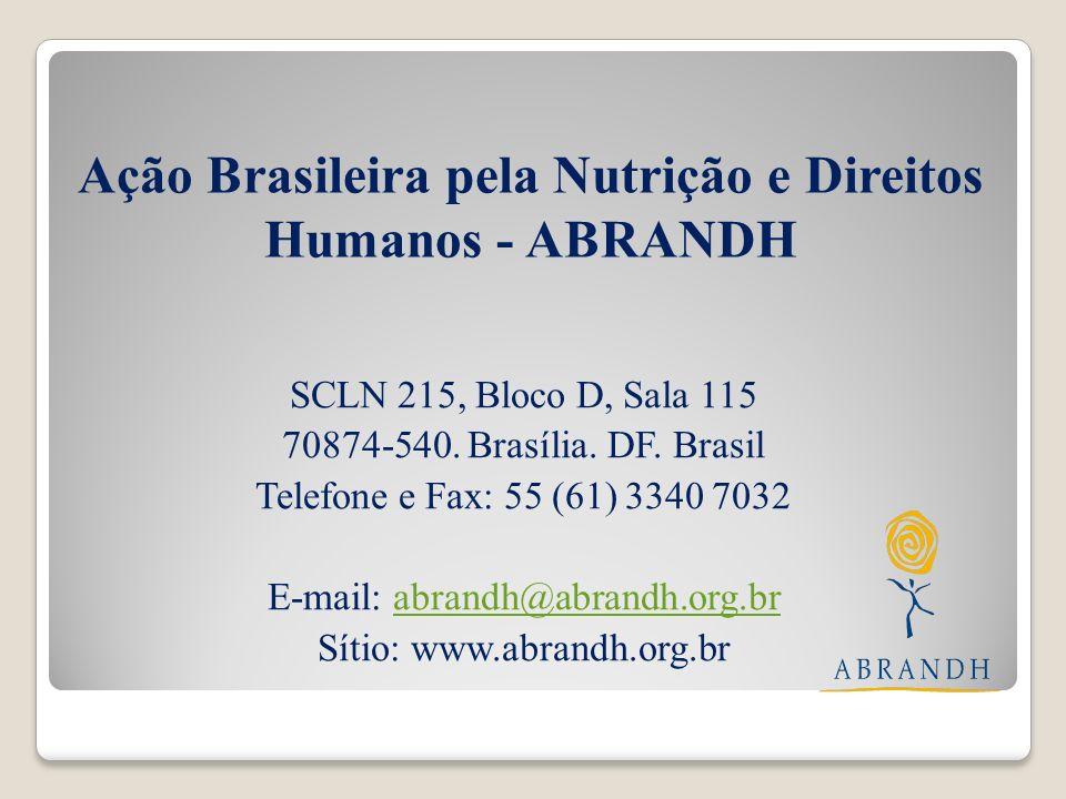 Ação Brasileira pela Nutrição e Direitos Humanos - ABRANDH