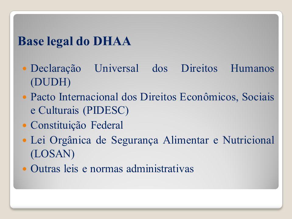 Base legal do DHAA Declaração Universal dos Direitos Humanos (DUDH)