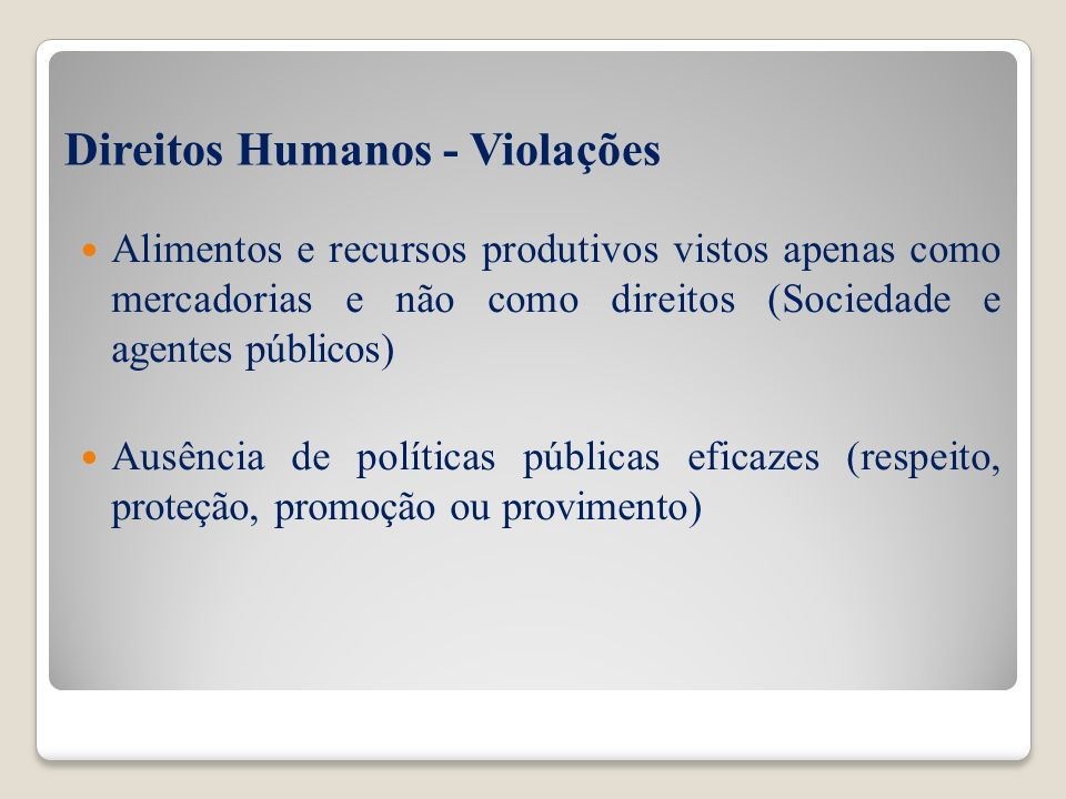Direitos Humanos - Violações