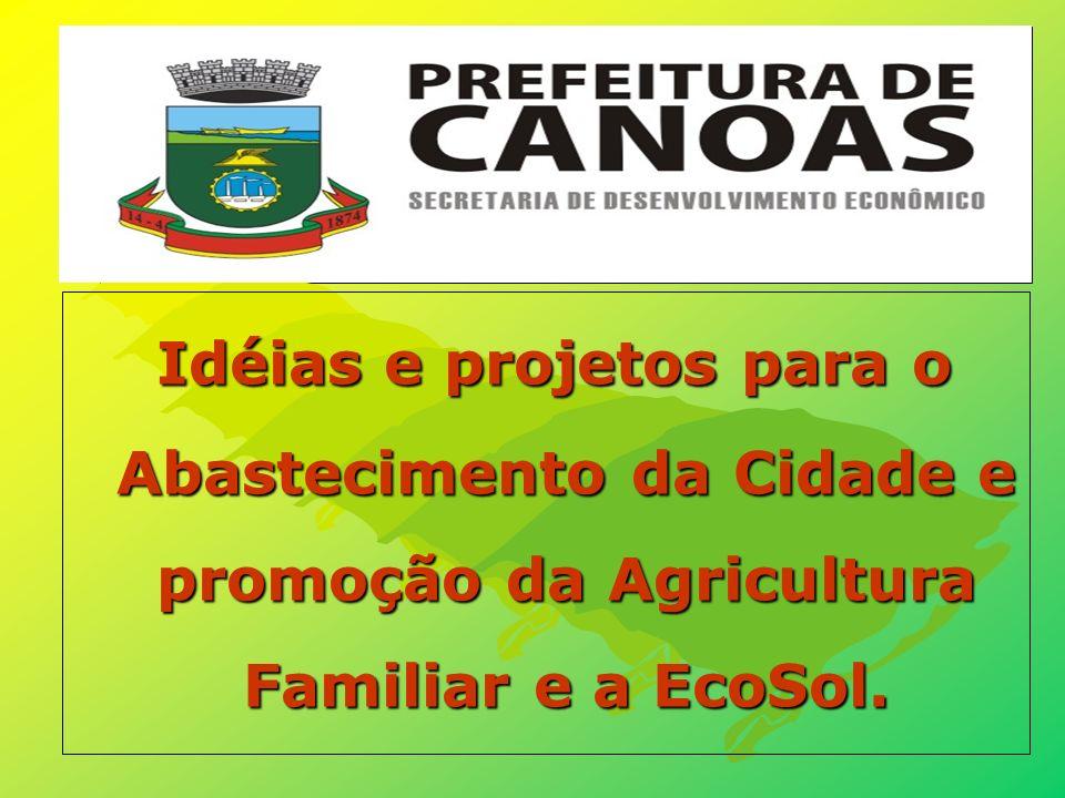 Idéias e projetos para o Abastecimento da Cidade e promoção da Agricultura Familiar e a EcoSol.