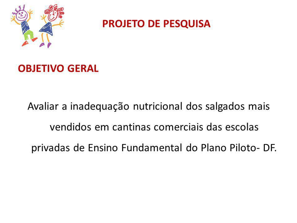 PROJETO DE PESQUISA OBJETIVO GERAL.