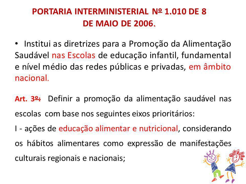 PORTARIA INTERMINISTERIAL Nº 1.010 DE 8 DE MAIO DE 2006.