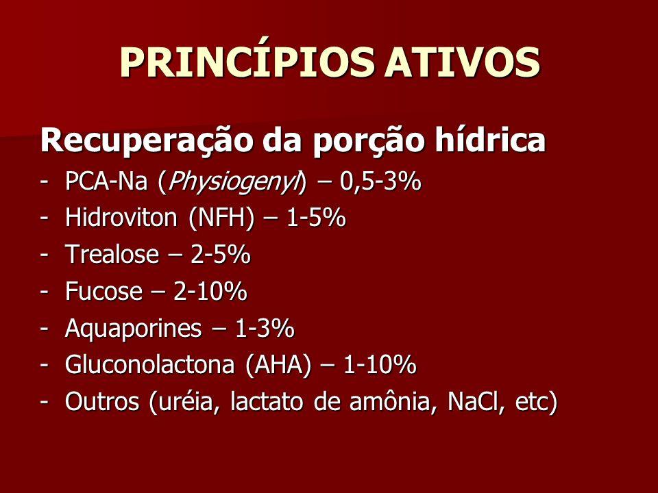 PRINCÍPIOS ATIVOS Recuperação da porção hídrica