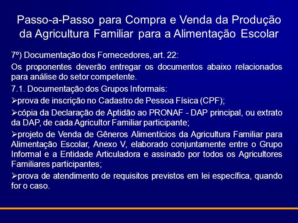 Passo-a-Passo para Compra e Venda da Produção da Agricultura Familiar para a Alimentação Escolar