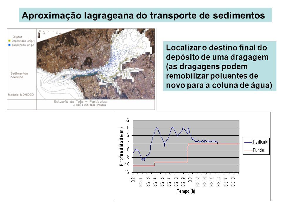 Aproximação lagrageana do transporte de sedimentos
