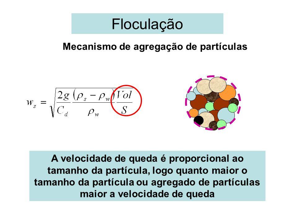 Floculação Mecanismo de agregação de partículas