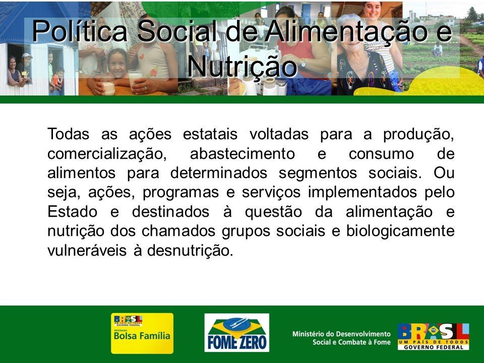 Política Social de Alimentação e Nutrição