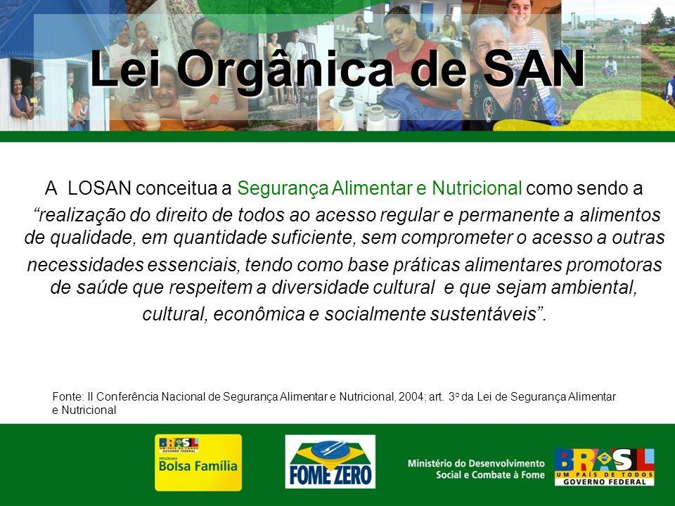 Lei Orgânica de SAN A LOSAN conceitua a Segurança Alimentar e Nutricional como sendo a.
