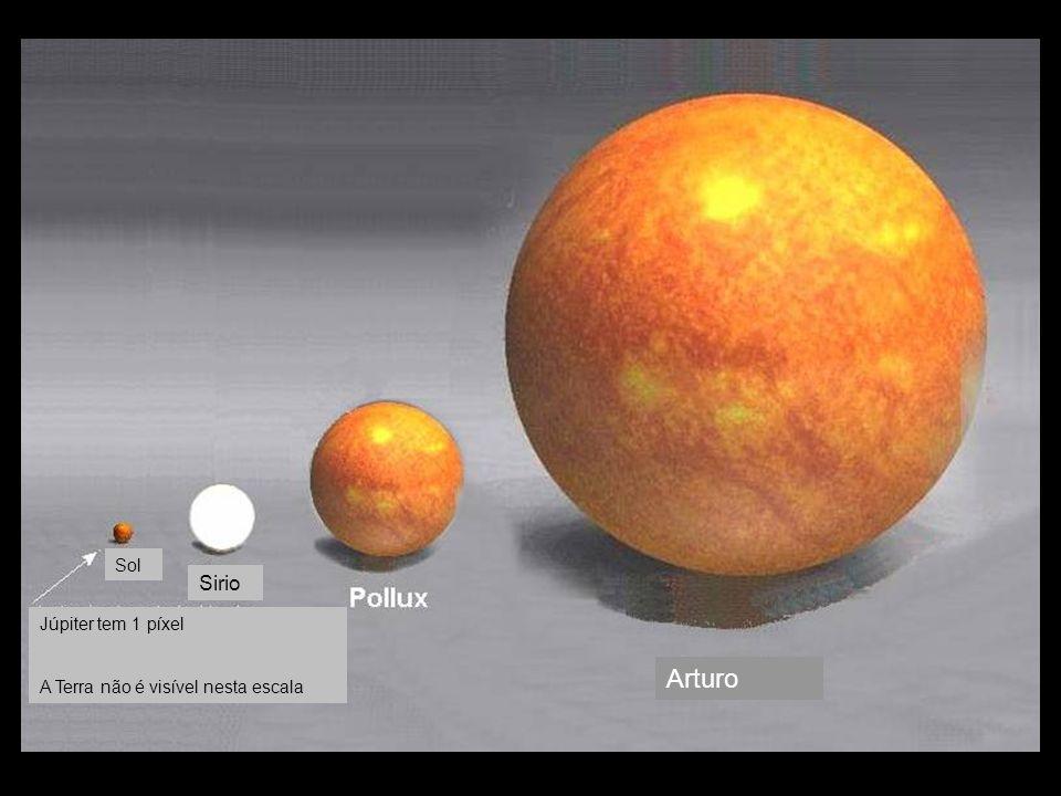 Arturo Sirio Sol Júpiter tem 1 píxel