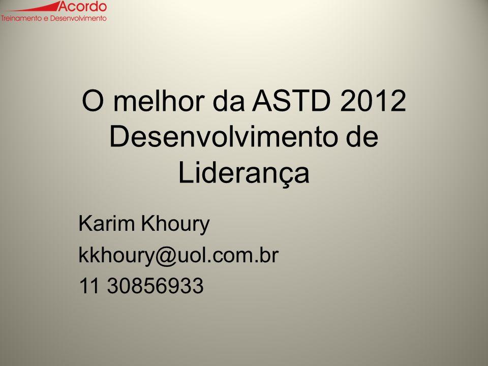 O melhor da ASTD 2012 Desenvolvimento de Liderança
