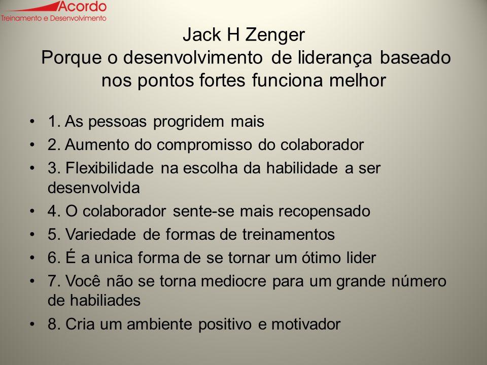 Jack H Zenger Porque o desenvolvimento de liderança baseado nos pontos fortes funciona melhor
