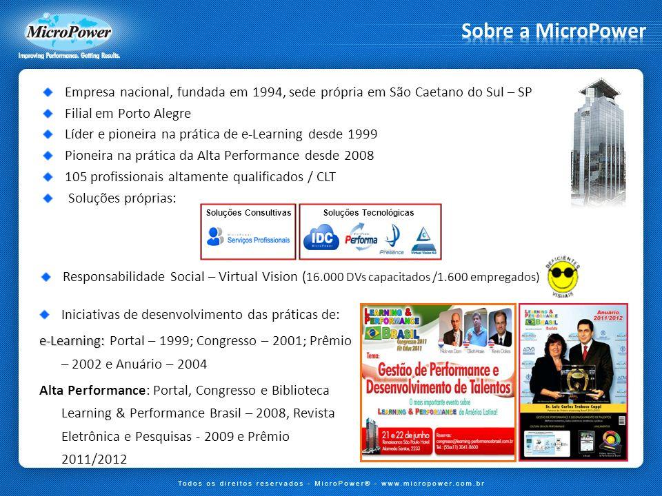 Sobre a MicroPower Empresa nacional, fundada em 1994, sede própria em São Caetano do Sul – SP. Filial em Porto Alegre.