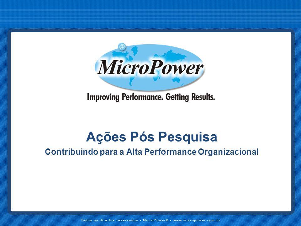Contribuindo para a Alta Performance Organizacional