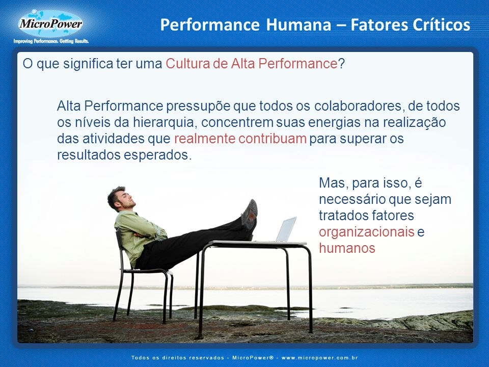 Performance Humana – Fatores Críticos
