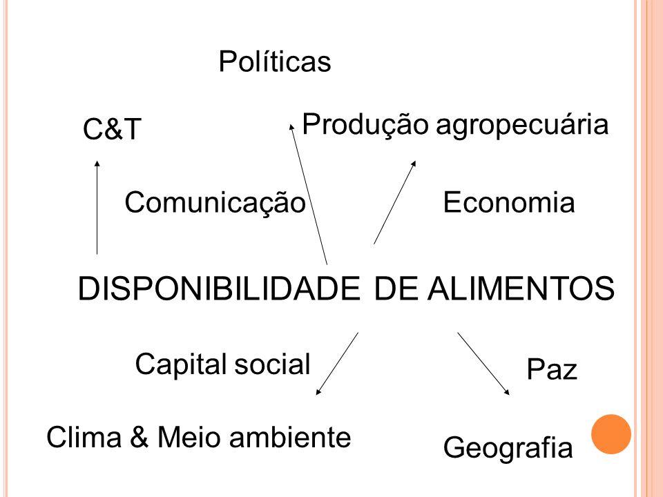 DISPONIBILIDADE DE ALIMENTOS
