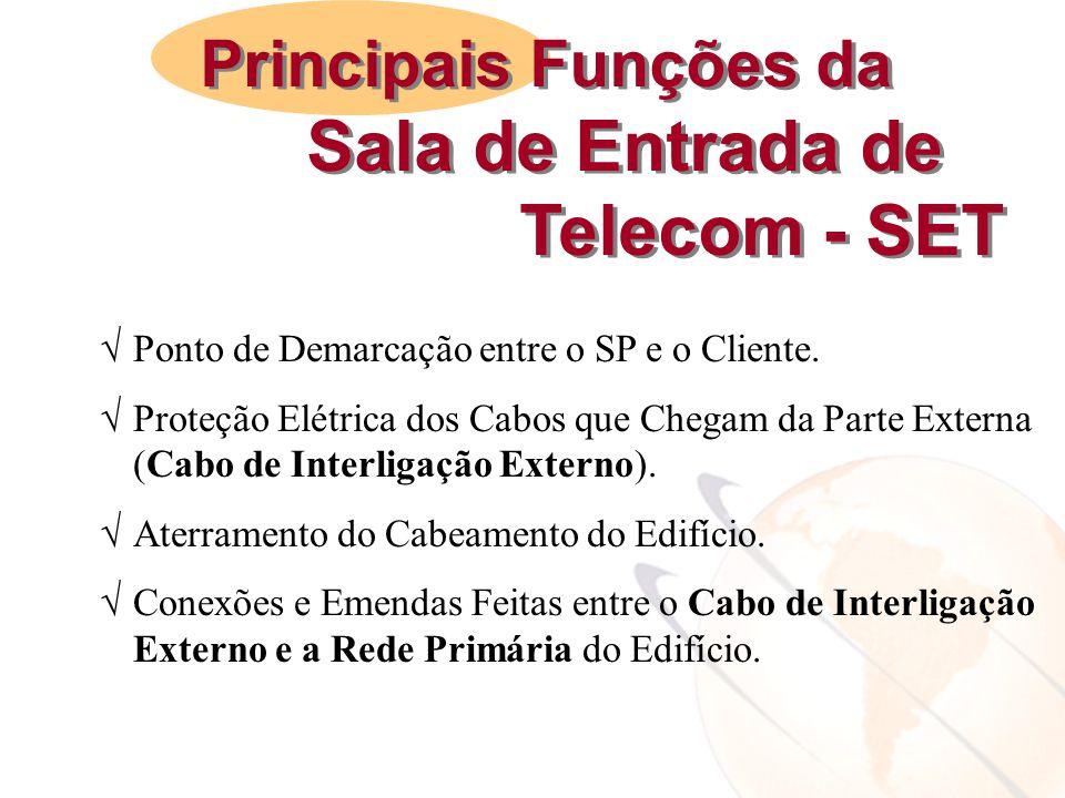 Telecom - SET Principais Funções da Sala de Entrada de