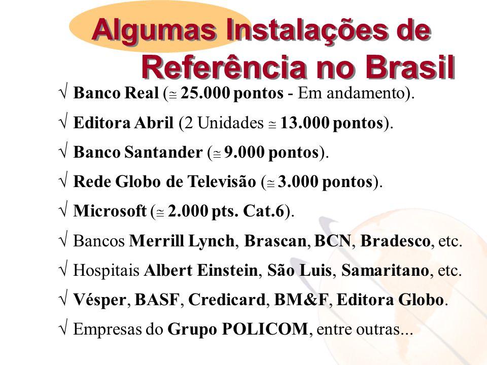Referência no Brasil Algumas Instalações de
