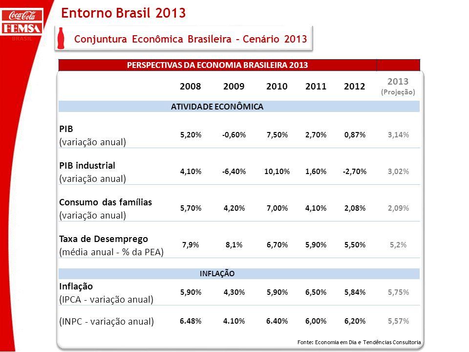 Entorno Brasil 2013 Conjuntura Econômica Brasileira – Cenário 2013