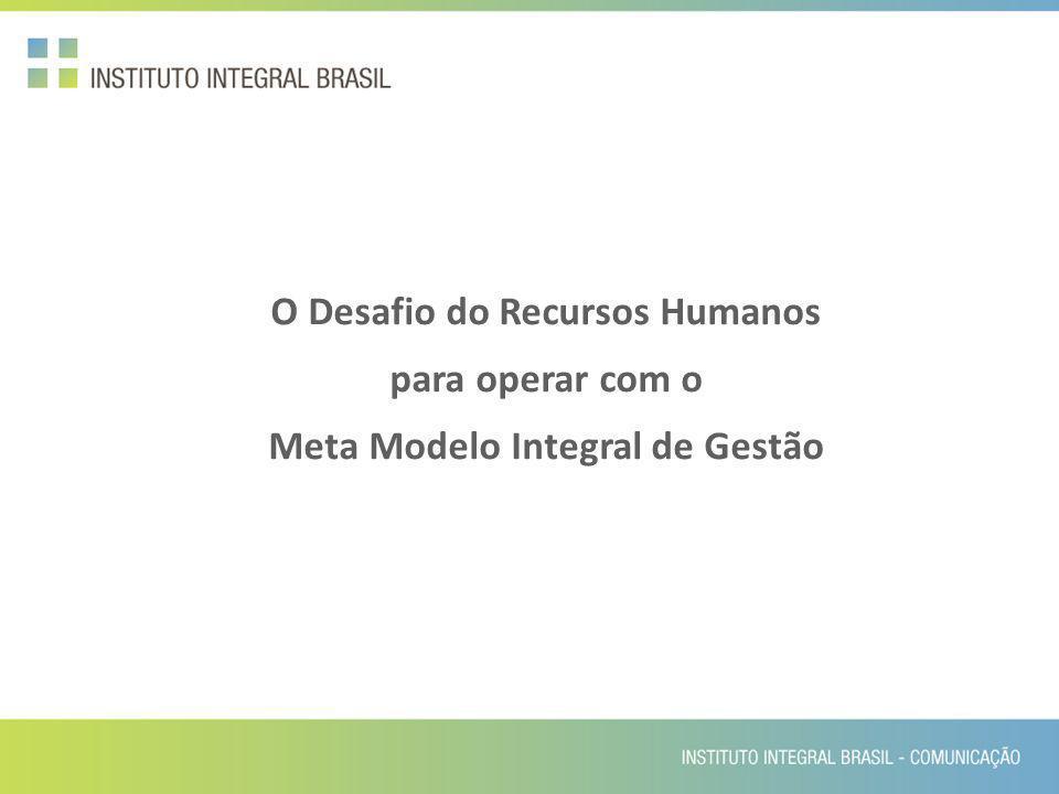 O Desafio do Recursos Humanos Meta Modelo Integral de Gestão