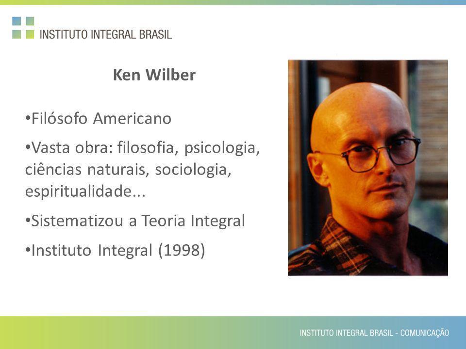 Ken Wilber Filósofo Americano. Vasta obra: filosofia, psicologia, ciências naturais, sociologia, espiritualidade...