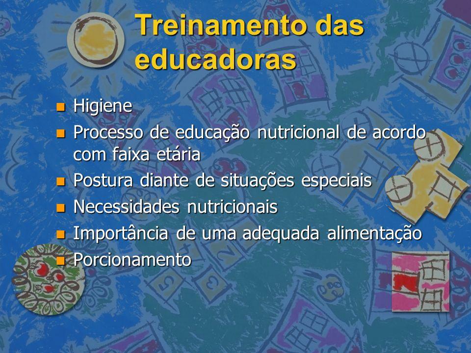 Treinamento das educadoras
