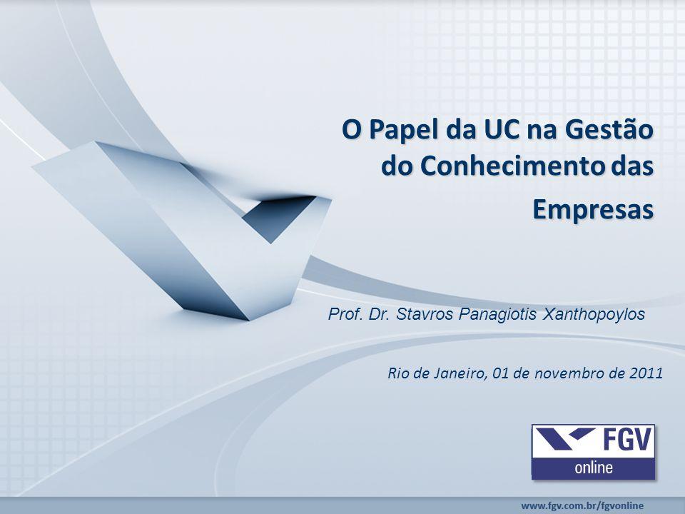 O Papel da UC na Gestão do Conhecimento das Empresas